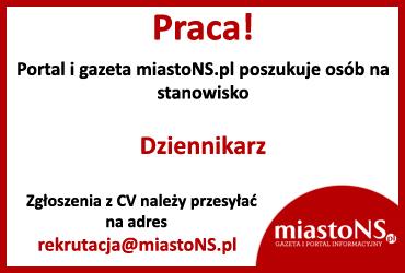 Ogłoszenie Praca miastoNS.pl