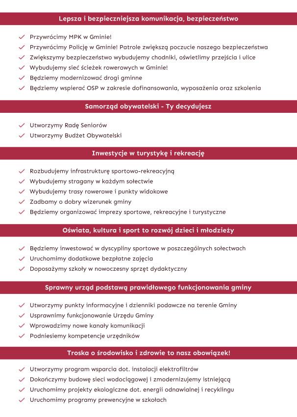 Najważniejsze postulaty KWW Rafała Kmaka